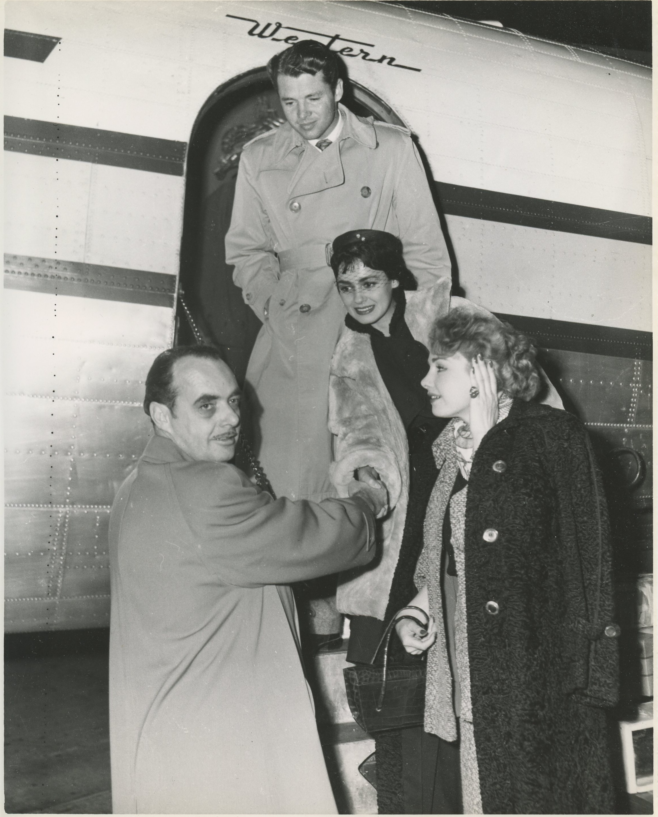 Norman Greets Renate Huy Susan Cabot And Audie Murphy As